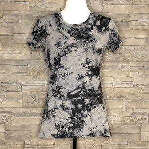 Under Armour grey tie dye fitted t-shirt